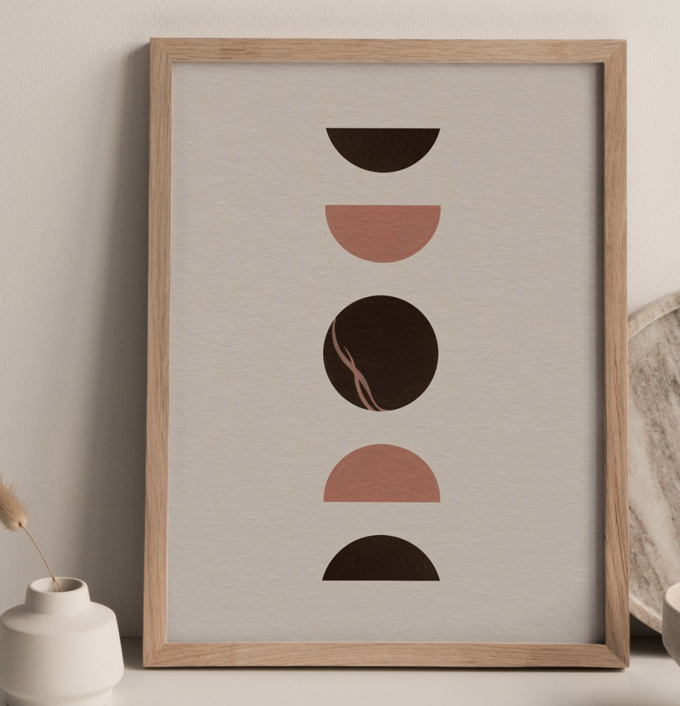 Abstract print by Helina Illustration, Etsy