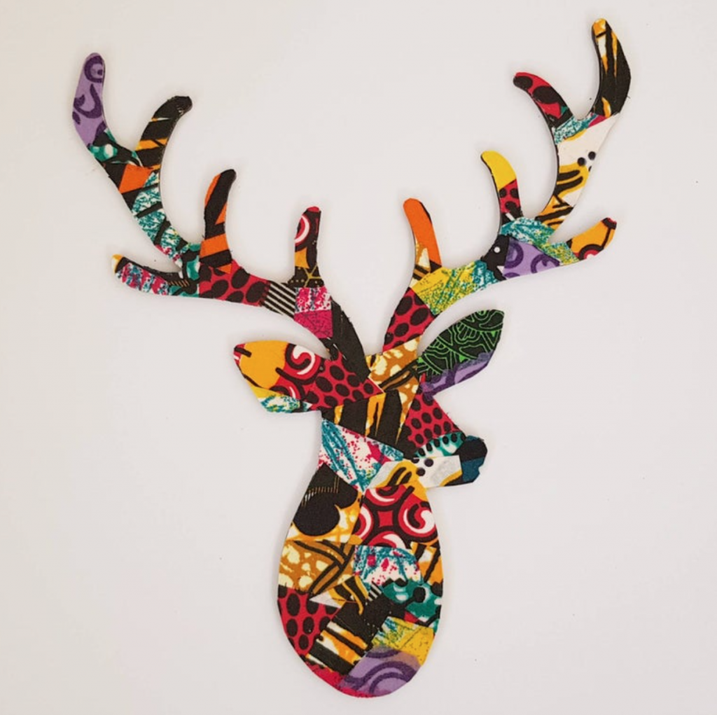 Wooden stag head by Afro inspired, Etsy