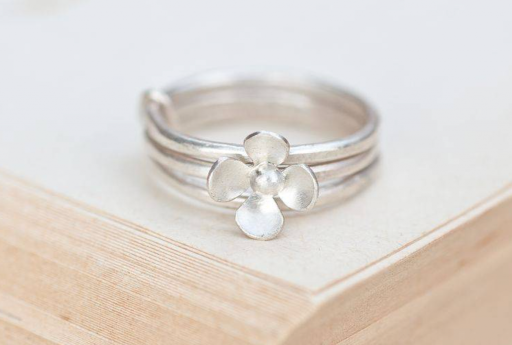 Buttercup stack ring by Yume Jewellery, Not on the High Street