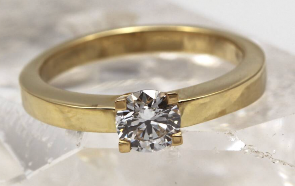 0.50ct diamond engagement ring by Jacqueline and Edward, Not on the High Street