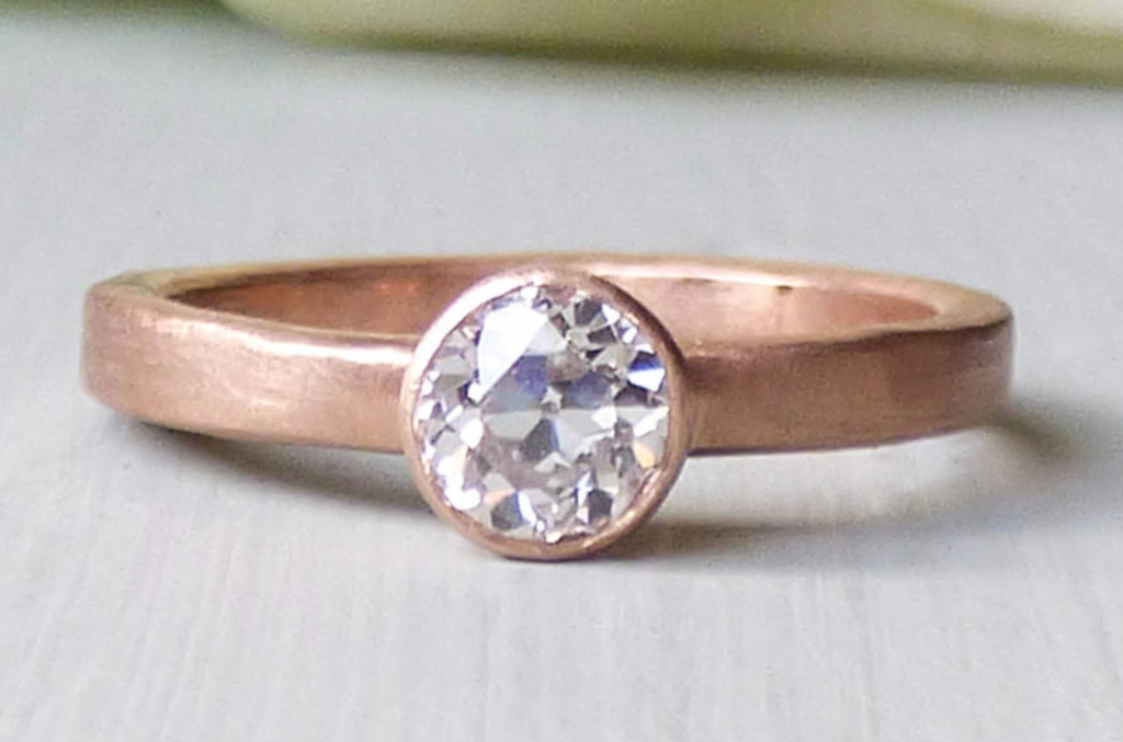 Fairtrade rose gold engagement ring by Shakti Ellenwood, Not on the High Street