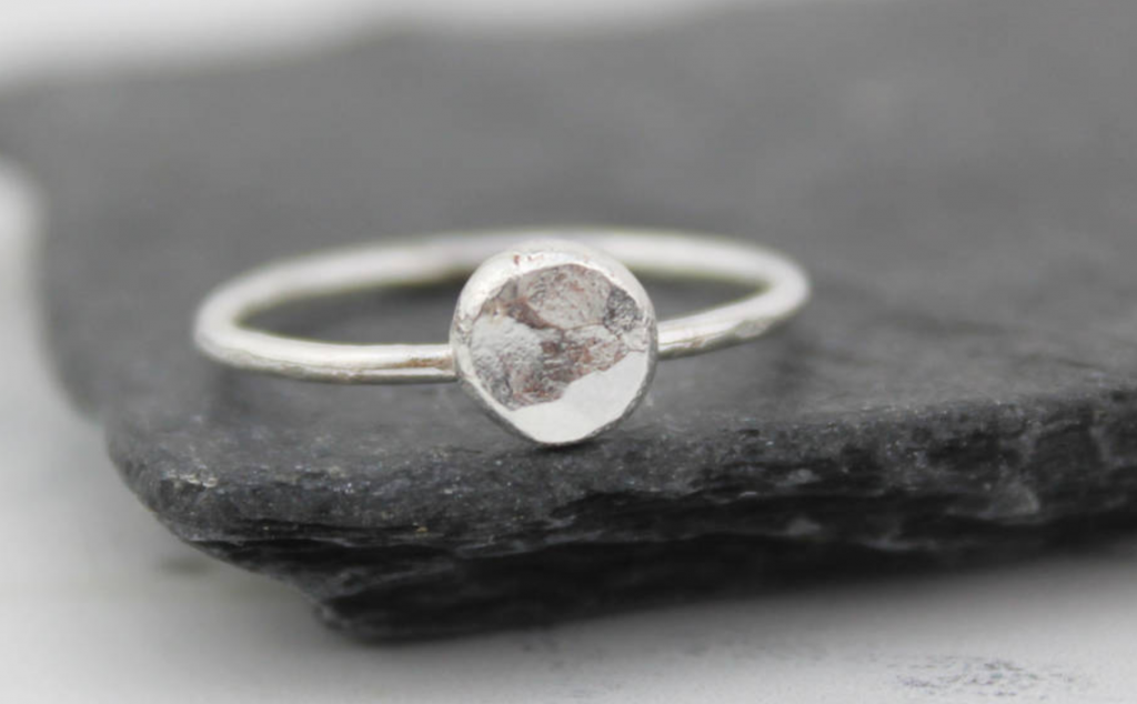 Sterling silver nugget ring by Lucy Kemp Silver Jewellery, Not on the High Street