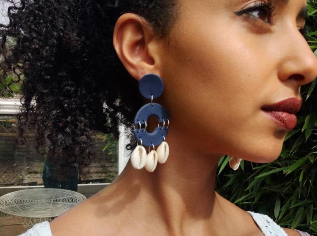 Clay earrings, Kameriya by Orit, Etsy