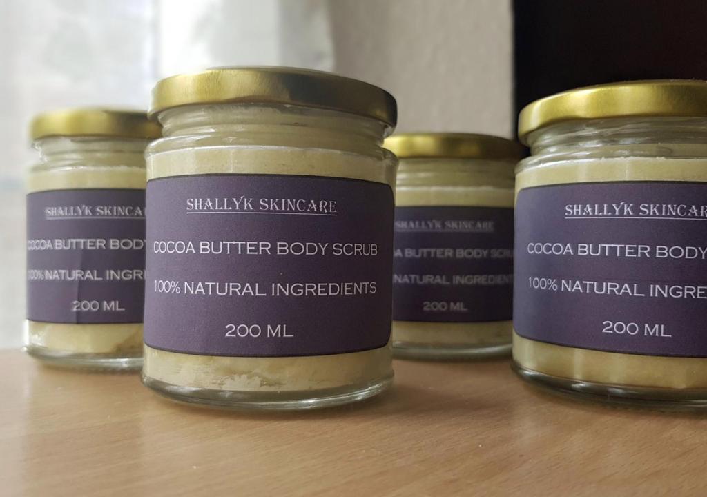 Cocoa butter body scrub, SK Skincare Store, Etsy