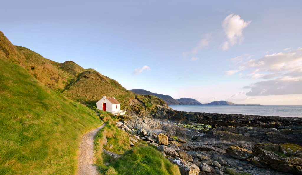 Path to the White Fishermans Cottage on Niarbyl on the Isle of Man
