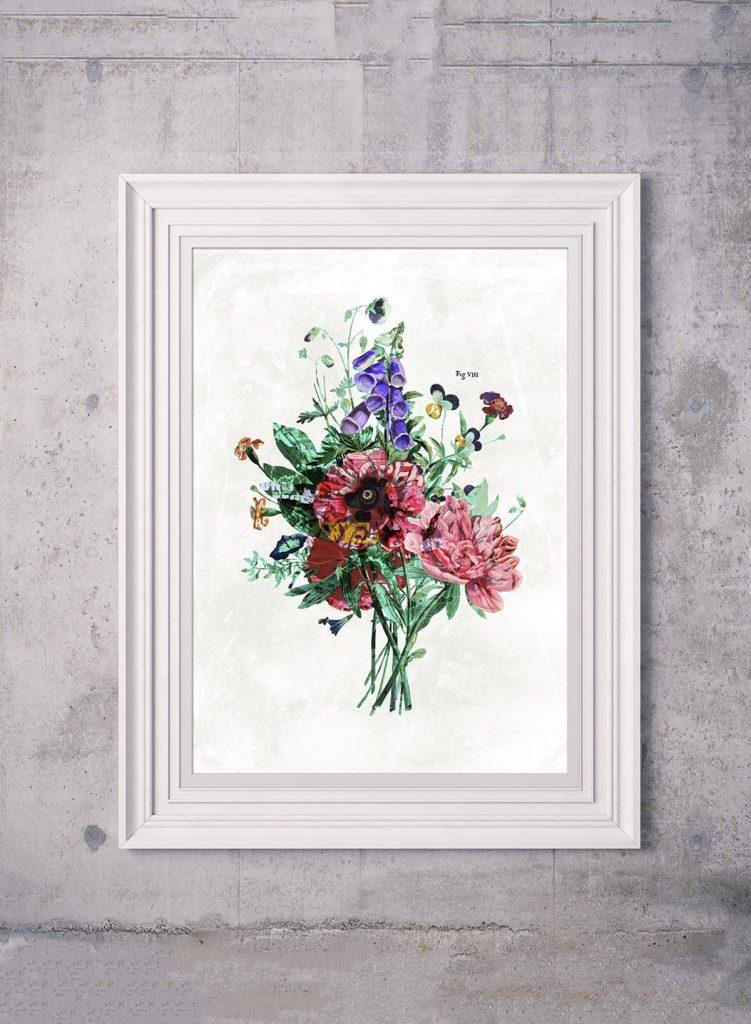 Botanical Streetart White Print 50x70 from Ink&Drop