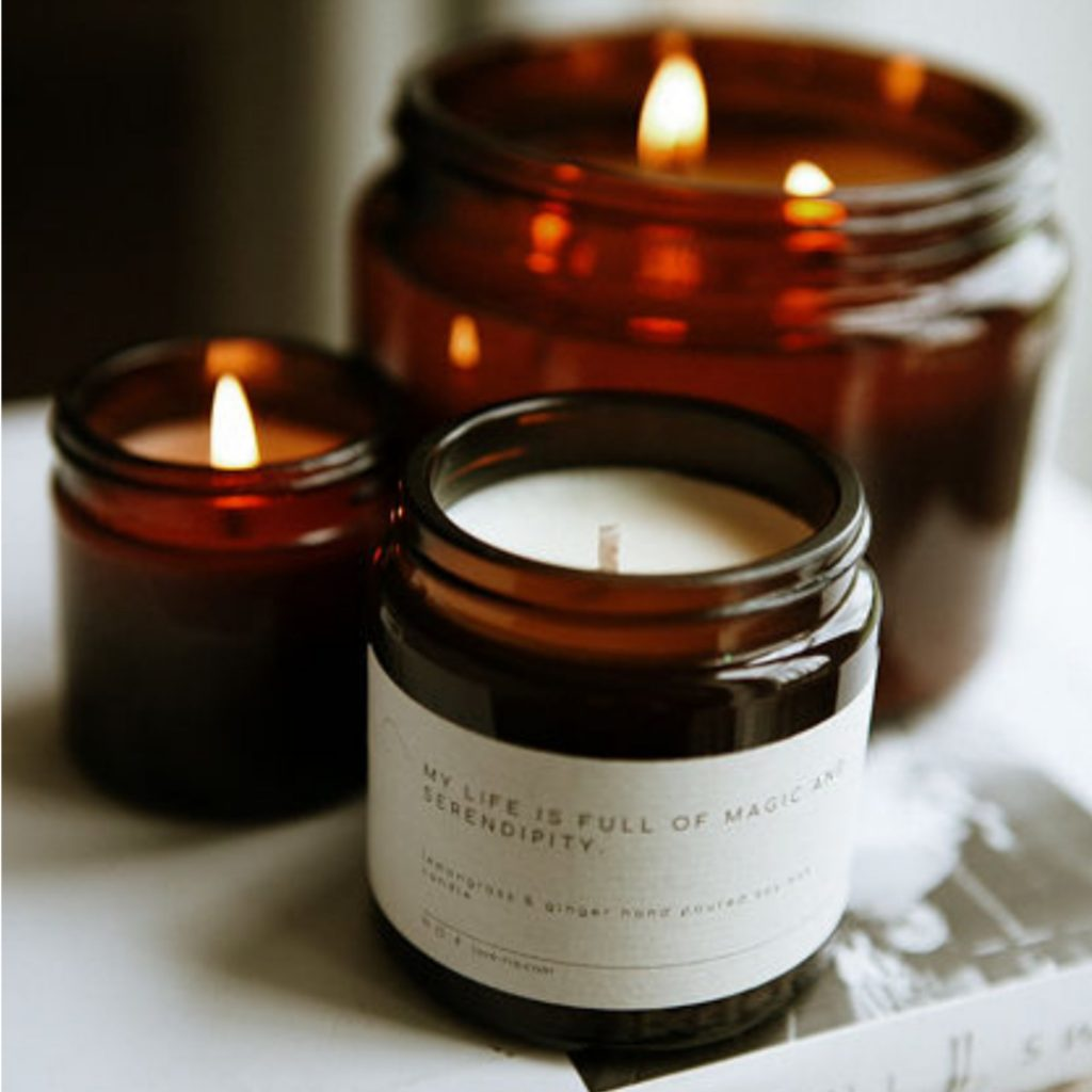 Lemongrass and Ginger Soy WaxCandle from Ria Candle